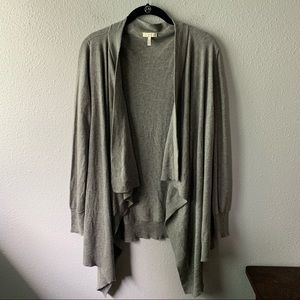 Gray Cashmere Blend Joie Cardigan Sweater